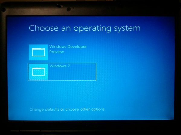 The new Windows 8 Boot Manager