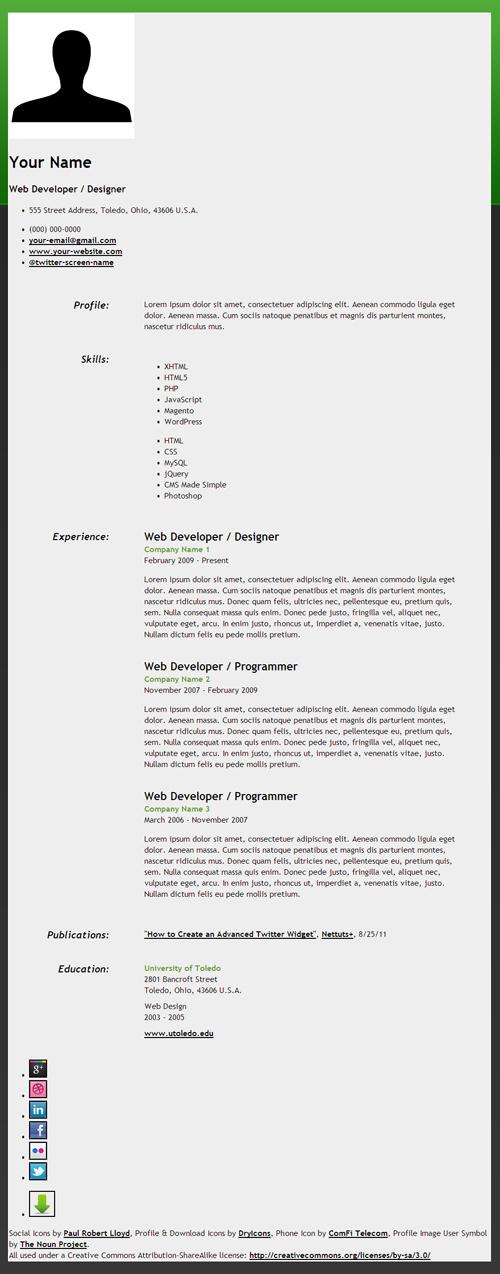 how to create an html5 microdata powered resume joliet