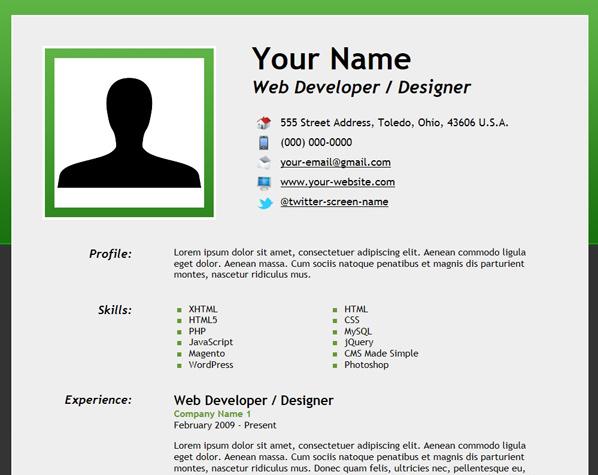 如何使用HTML5创建在线精美简历