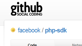 Facebook's GitHub page