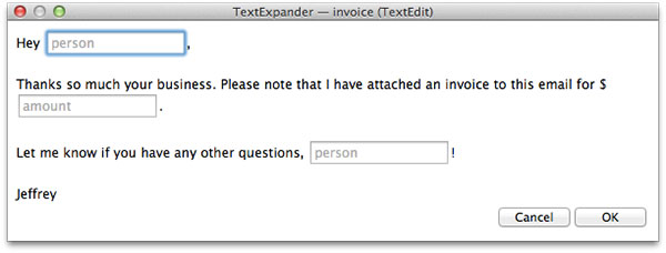 Invoice Snippet