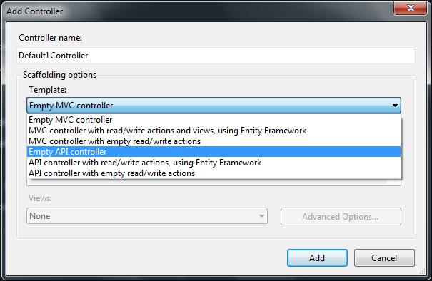 Create ApiController