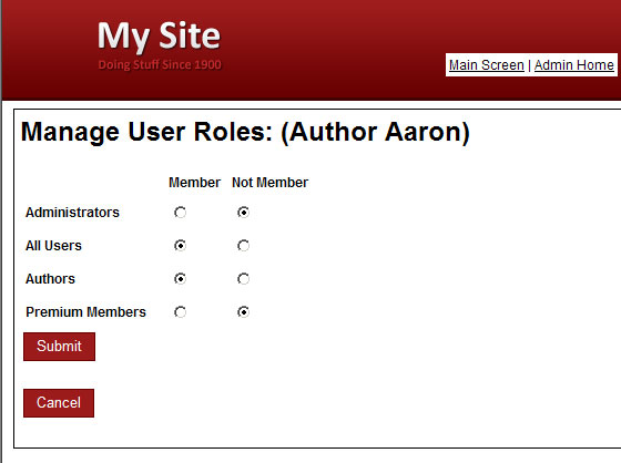 User Roles
