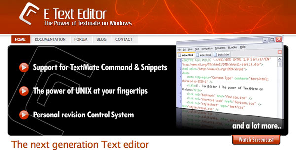 e Text Editor