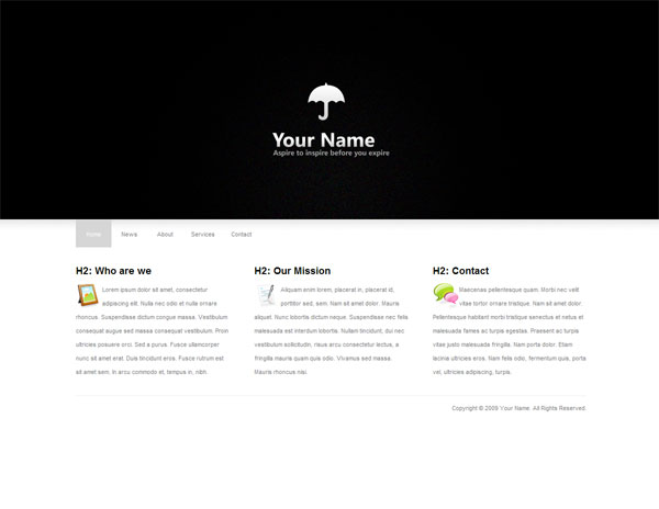 Clean and Minimal Template