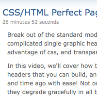<br /> CSS/HTML Perfect Page Headers