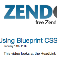 Using Blueprint CSS With Zend