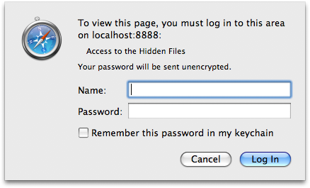 Login Dialog