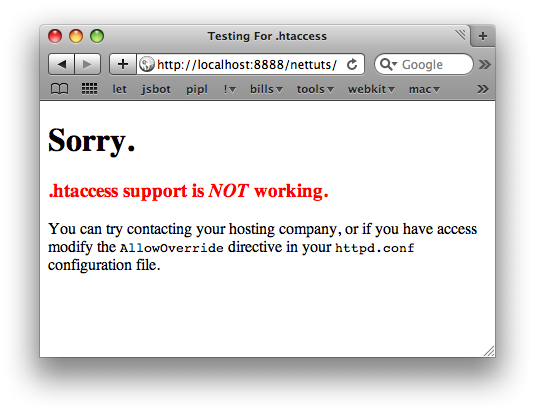 Bad, htaccess Ignored