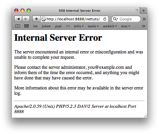 Good, Internal Service Error