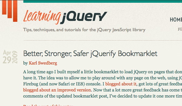 LearningjQuery Screenshot