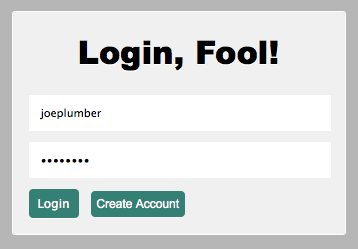 Login Form