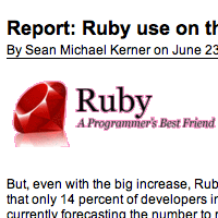 Report: Ruby Use on the Rise