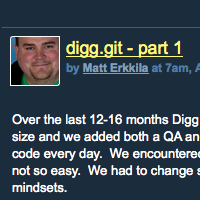 Digg moves to Git