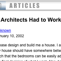 If Architects Had to Work Like Web Designers