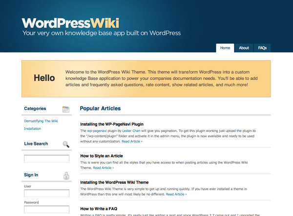WordPressWiki