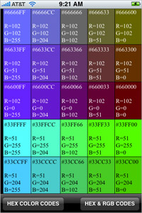 HEX RGB Colors Guide