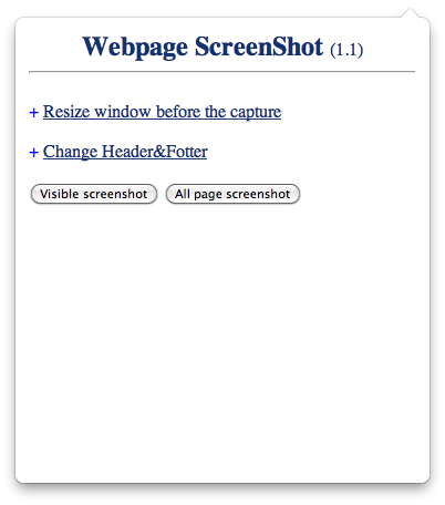 A screenshot of the Webpage ScreenShot extension