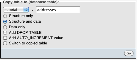 Create Address Table