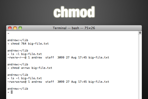 chmod