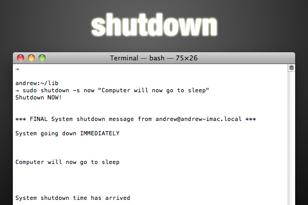 shutdown