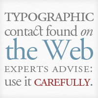 An Analysis of Typography on the Web