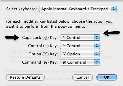 Reroute the caps lock key