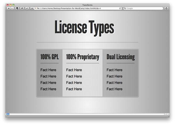 License Slides