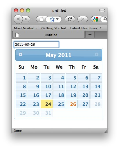 Datepicker Control
