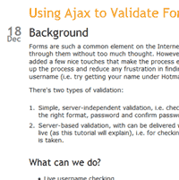 jQuery For Designers: Using AJAX To Validate Forms