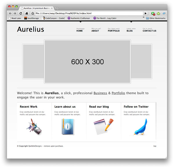 "Free ""Aurelius"" Website Template 